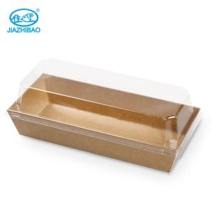 佳之堡 长方带盖西点盒(木本色)JX-002M