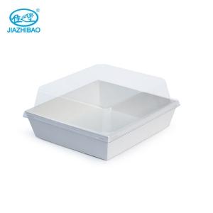 佳之堡 方形带盖西点盒(白卡)JX-011