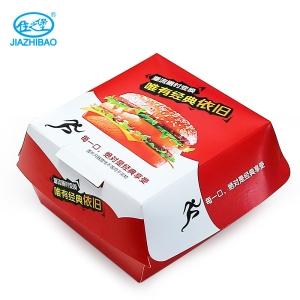 佳之堡 汉堡盒-红(白卡 700ml)JX-004A